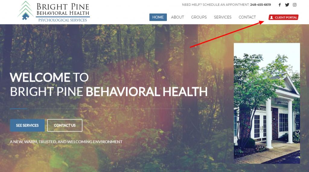 Client Portal Home Page