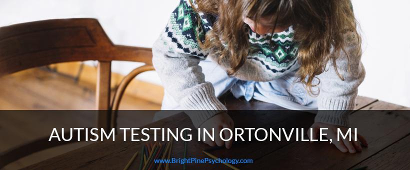 autism testing service in ortonville mi